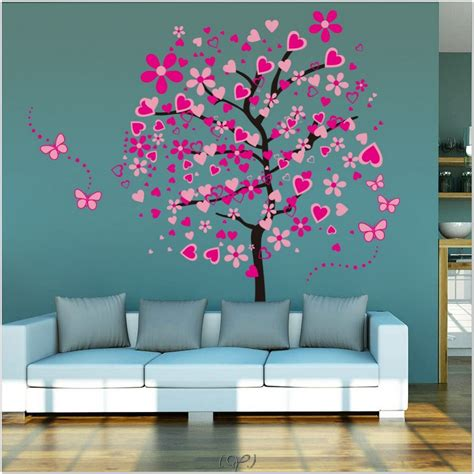 girls bedroom wall decor interior tree wall painting teen girl room decor kids