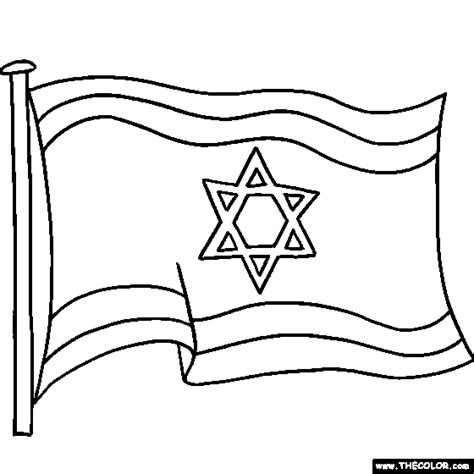 Israel Flag Coloring Page Symbol For Israel Coloring Flag Coloring Pages by Israel Flag Coloring Page