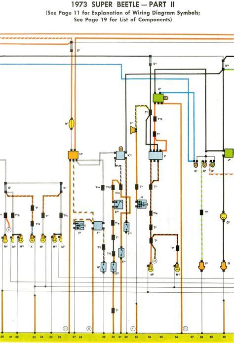 1973 beetle wiring diagram thegoldenbug