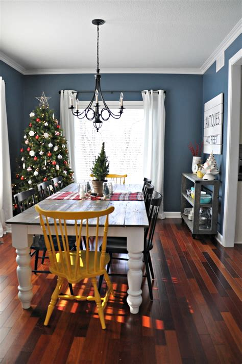 Farmhouse Dining Room Colors Home Tour Dining Kitchen Decor And The