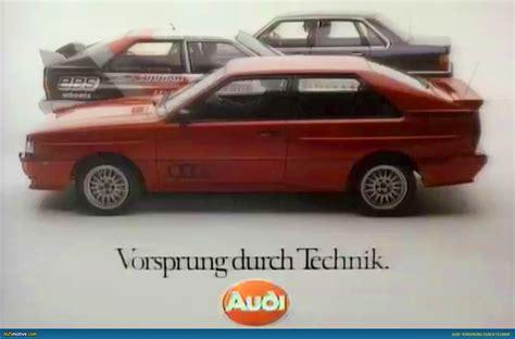 Audi Vorsprung Durch Technik by Ausmotive 187 40 Years Of Vorsprung Durch Technik