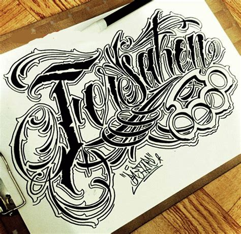 tattoo fonts chicano sketch letter chicano font style lettering design