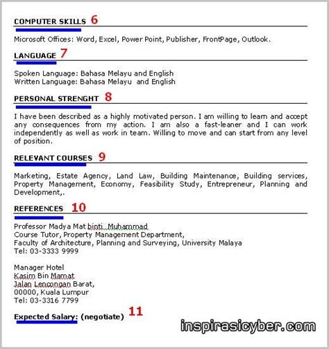 E Resume Spa Malaysia by My Careers August 2014
