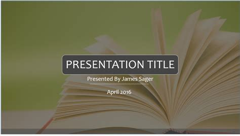 book presentation template books powerpoint free powerpoint templates sagefox