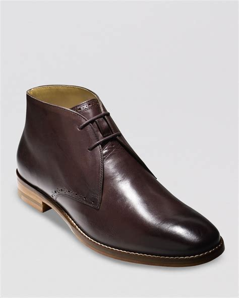 cole haan cambridge chukka boots in brown for