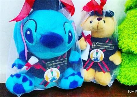 Boneka Wisuda Stitch By Keyniegift stitch and teddy boneka wisuda unipa kado wisudaku