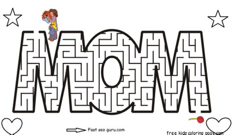 Maze Puzzle Parents Of The Animal free printable mothers day maze coloring pages for kidsfree printable coloring pages for