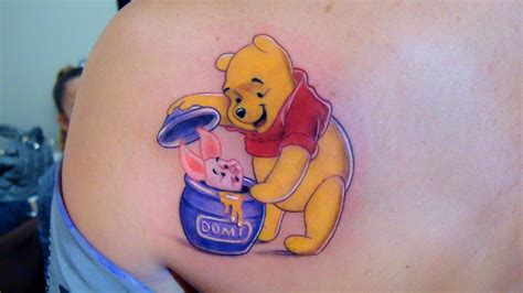 winnie the pooh tattoos an of winnie the pooh discovering piglet