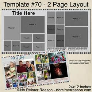 free digital templates free 2 page digital scrapbook template 16 photos no