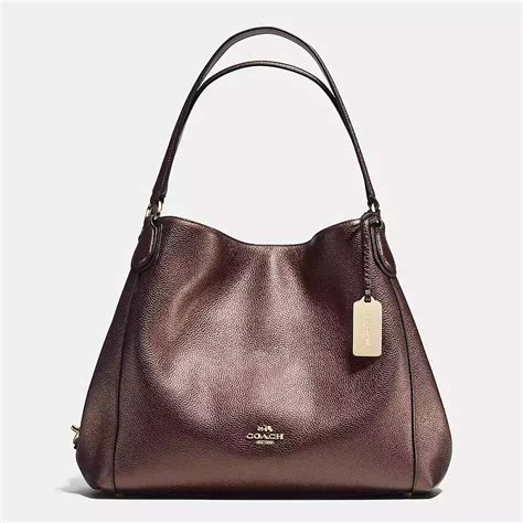 Coach Kelsey Small F56127 Metallic Pebble Leather Bronze coach edie light gold bronze pebble leather zip top closure shoulder bag 31 handbags purses