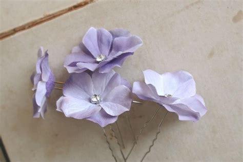 Wedding Hair Flowers Small by Lavender Flower Hair Pins Wedding Hair Pins Floral Hair