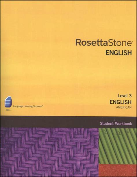 rosetta stone version 3 rosetta stone english us version 3 level 3 workbook
