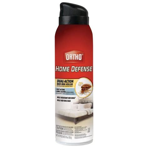 sprays for bed bugs ortho home defense max 18 oz bed bug aerosol 0192910