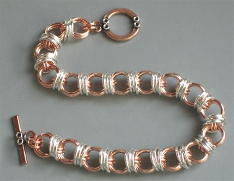 captured bead chainmaille captive caterpillar chainmaille bracelet bead style