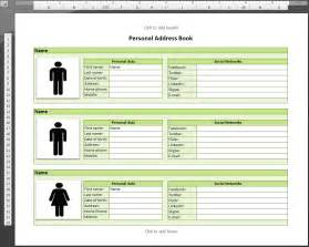 book templates for template for address book database conference excel phone