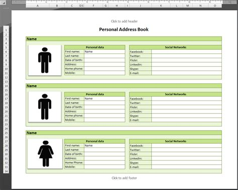 template for address book database conference excel phone