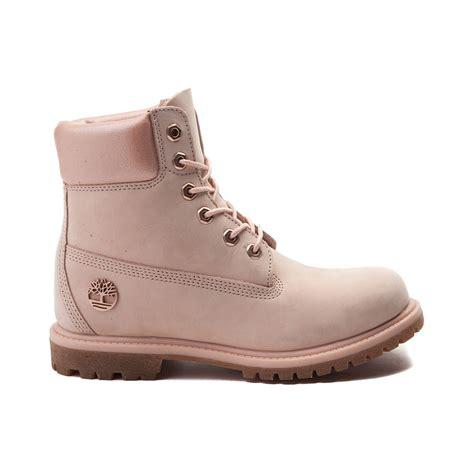 pink timberland boots womens womens timberland 6 metallic collar premium boot pink