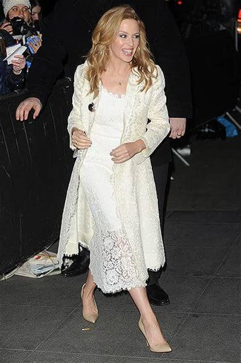 Celebrity street style: Kylie Minogue in London WOVOW