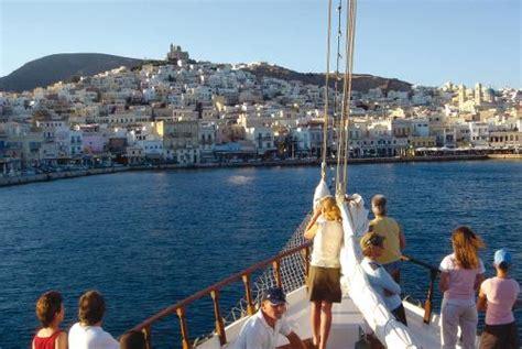 greek island boat tours greece cycling sailing holiday greek aegean islands