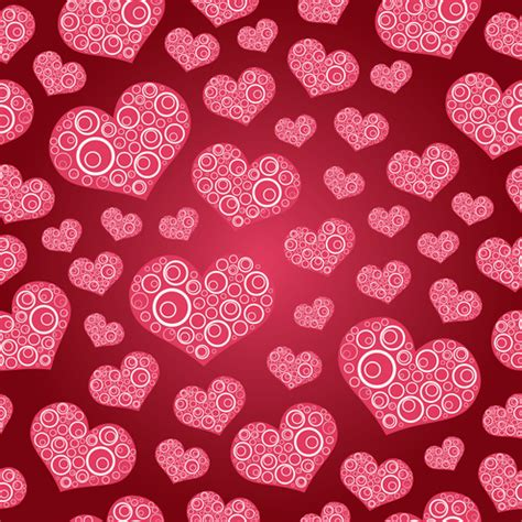pattern background hearts seamless hearts pattern background vector dragonartz