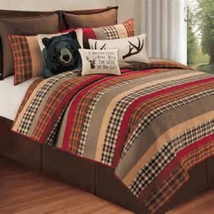 rustic bedding size cabin retreat quilt black
