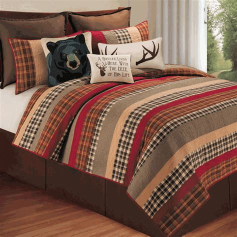cabin bedding sets rustic bedding full queen size cabin retreat quilt black