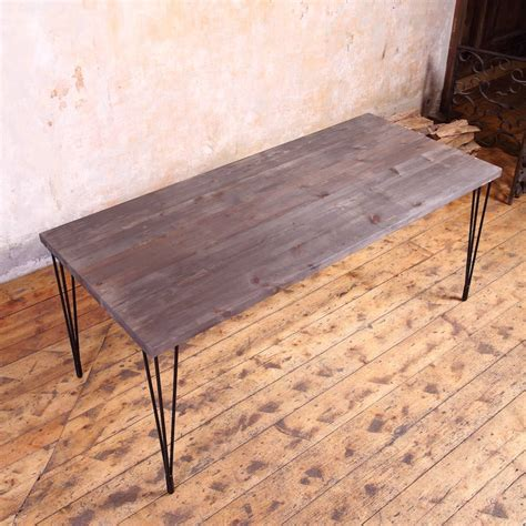 industrial style dining table hairpin legs industrial style dining table by cosywood
