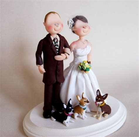 Handmade Wedding Cake Toppers - wedding cake topper custom made by