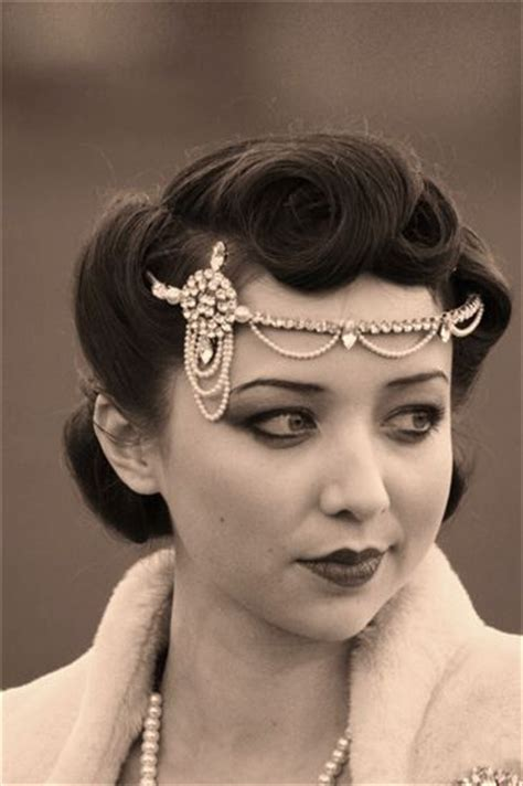 roaring twenties hair roaring 20s headband 1920 s pinterest