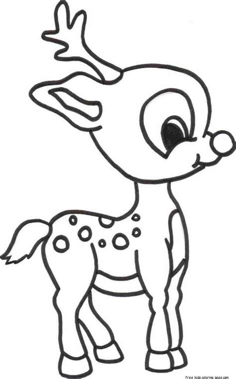coloring pages christmas reindeer christmas reindeer coloring pages coloring home
