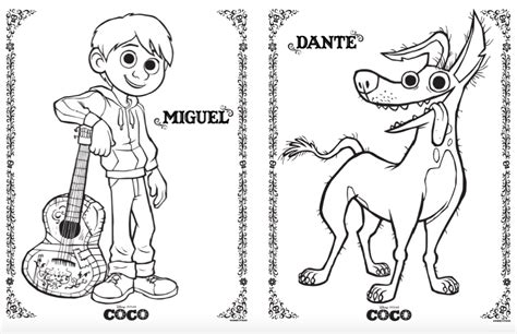 coco coloring book disney pixar coco coloring pages for boys and books disney pixar coco coloring and activity pages simple