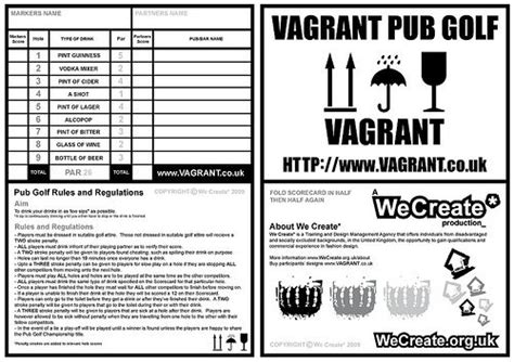bar golf score cards template pub golf scorecard ideas for dc golf