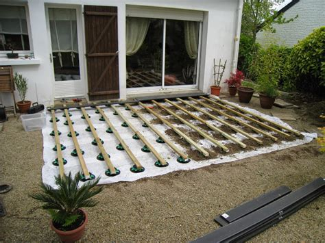 comment poser une terrasse en bois 4357 poser une terrasse composite sur lambourdes et plots