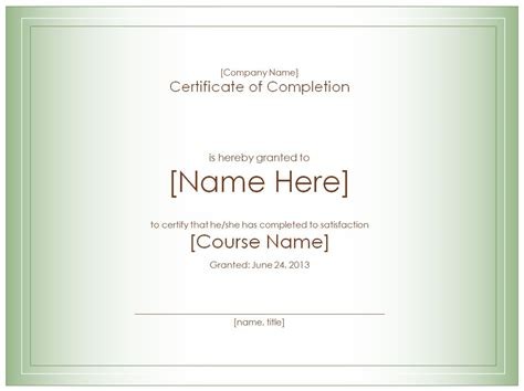 course completion certificate templates certificate templates template trove invitations ideas