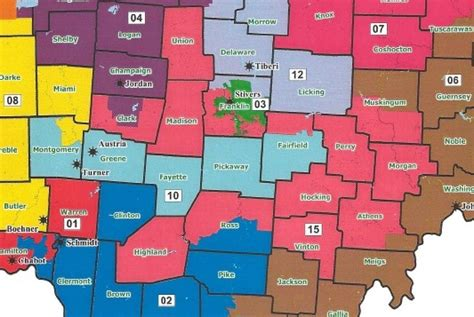 ohio house of representatives ohio state representatives map usa maps us country maps