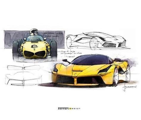 laferrari sketch official laferrari sketch from designer flavio manzoni