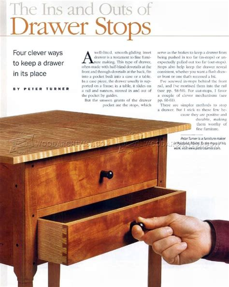 furniture drawer stops making drawer stops woodarchivist