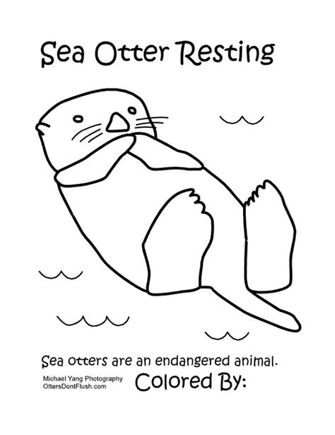 free coloring pages of sea otter