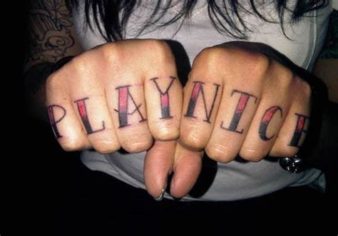 finger word tattoos 35 awesome knuckle finger tattoos