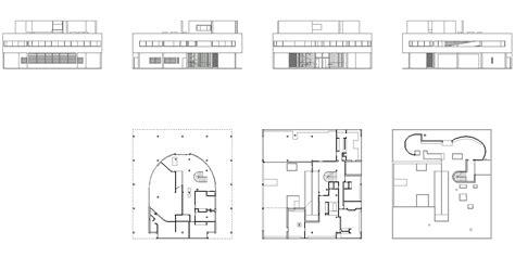 villa savoye floor plan dwg villas elevation and plan studio design gallery