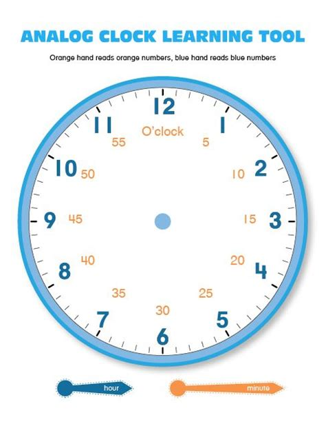 printable analog clock with minutes 55 best images about printables and ebooks on pinterest