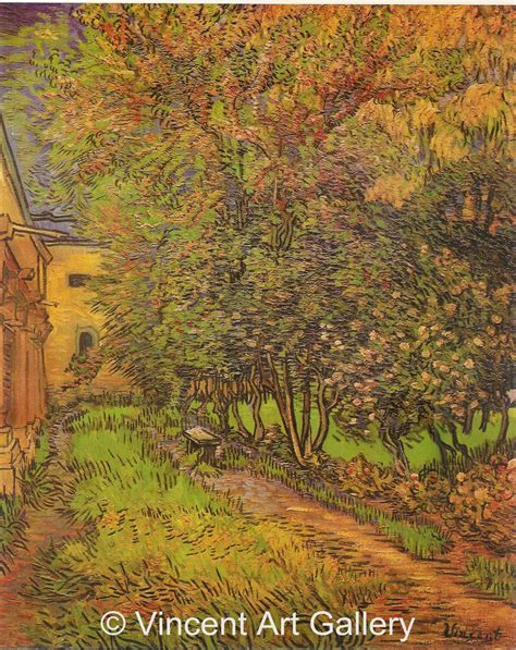 Garden Of St Paul The Garden Of Paul Hospital By Vincent Gogh