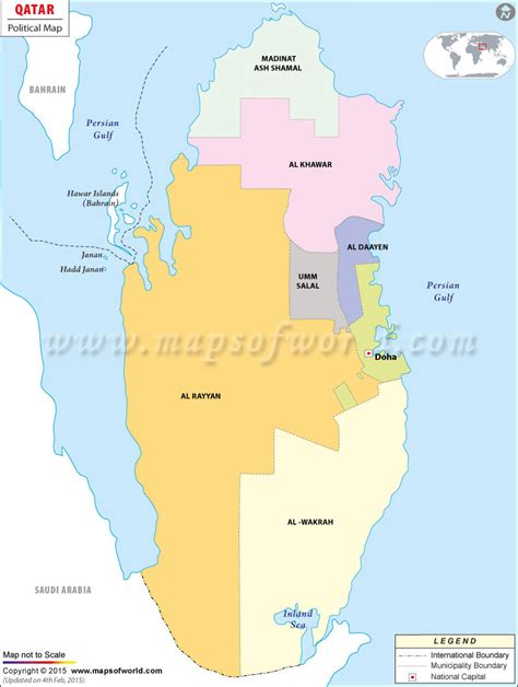 qatar on map of world homefront march 2011
