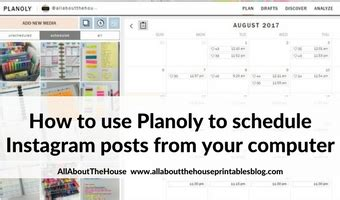 instagram tutorial desktop how to use planoly to schedule instagram posts from your