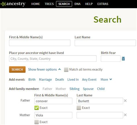 Search Ancestry How To Search For Your Ancestors Other Children Or Spouses Genealogy Research