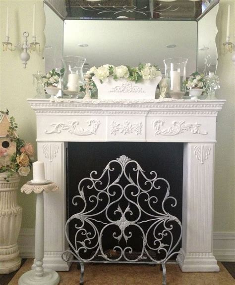 Shabby Chic Fireplace by Fireplace Mantle Shabby Chic Beautiful Home