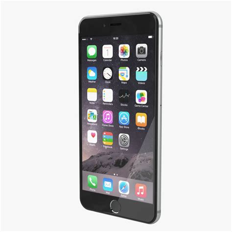apple iphone 6 plus all color 3d model max obj cgtrader