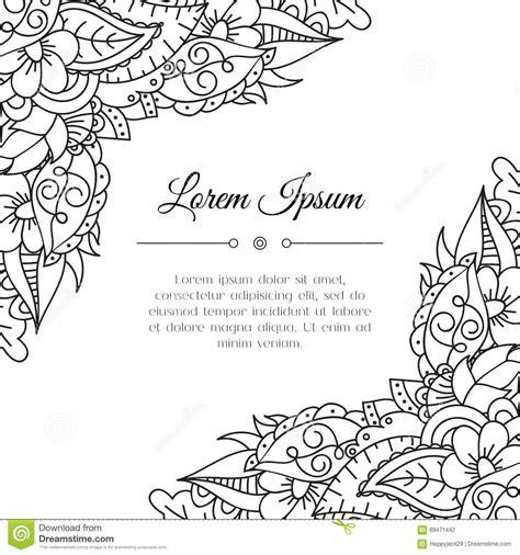 corner template designs zentangle floral corner stock vector image