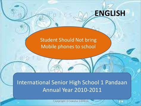 what should i bring to college for my room student should not bring mobile phones to school