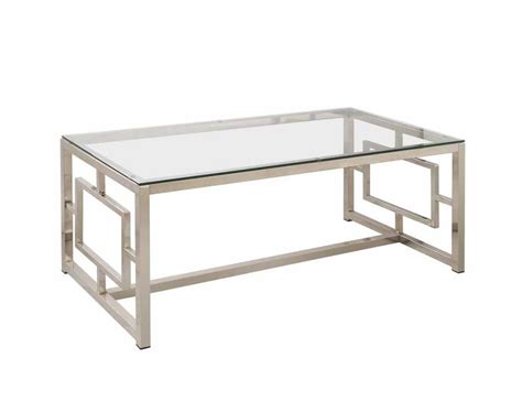 modern glass metal coffee table living room